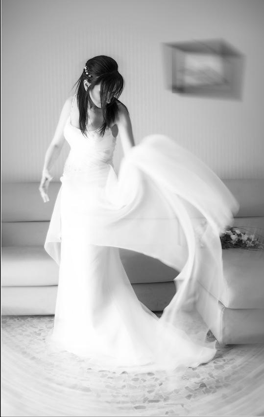 fotografia sposa bianco e nero
